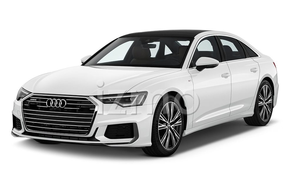 2019 Audi A6 S-Line 4 Door Sedan Angular Front stock photos of front three quarter view