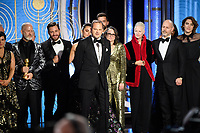 Accepting the Golden Globe for Best Television Limited Series or Motion Picture Made for Television for &quot;The Assassination of Gianni Versace: American Crime Story&quot; (FX Networks) is Bradford Simpson along with the cast and crew at the 76th Annual Golden Globe Awards at the Beverly Hilton in Beverly Hills, CA on Sunday, January 6, 2019.<br /> *Editorial Use Only*<br /> CAP/PLF/HFPA<br /> Image supplied by Capital Pictures