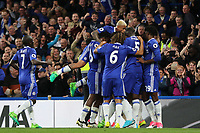 Chelsea players congratulate John Terry after scoring their opening goal during Chelsea vs Watford, Premier League Football at Stamford Bridge on 15th May 2017