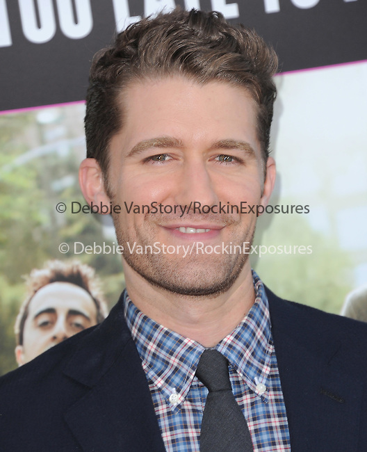 Matthew Morrison at Lionsgate L.A. Premiere of  What to Expect When You're Expecting held at The Grauman's Chinese Theatre in Hollywood, California on May 14,2012                                                                               © 2012 Hollywood Press Agency