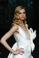 Pronovias fashion show during the Valmont Barcelona Bridal Fashion Week at the Italian Pavilion Fira Montjuic in Barcelona on April 26, 2019.