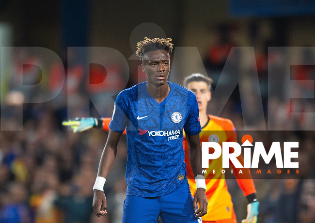 Chelsea's Tammy Abraham during the UEFA Champions League match between Chelsea and Valencia  at Stamford Bridge, London, England on 17 September 2019. Photo by Andrew Aleksiejczuk / PRiME Media Images.
