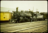 D&amp;RGW #478 K-28 with baggage car.<br /> D&amp;RGW  Durango ?, CO