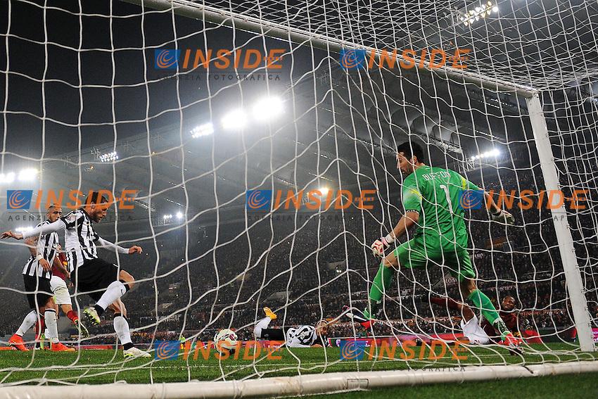 Gol Seydou Keita Roma Autogol Claudio Marchisio Goal celebration 1-1 <br /> Roma 02-03-2015 Stadio Olimpico Football Calcio Serie A AS Roma - Juventus. Foto Andrea Staccioli / Insidefoto