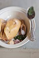 Europe/France/Midi-Pyrénées/82/Tarn-et-Garonne/Saint-Étienne-de-Tulmont: Préparation du  Foie gras de Canard