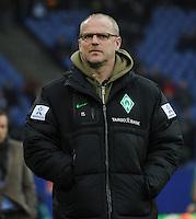 FUSSBALL   1. BUNDESLIGA   SAISON 2011/2012   22. SPIELTAG Hamburger SV - Werder Bremen       18.02.2012 Trainer Thomas Schaaf (SV Werder Bremen) mit Brille
