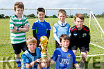 Global Champs<br /> ---------------------<br /> Camp junior soccer club held a 6-a-side World cup competition last Saturday afternoon and pictured were Argentina who beat Ireland in the final 4-2, front L-R Mark Farrell&amp;Steven Donovan, back L-R Killian Horan, Aodh&aacute;n Murrey, Robert Keane and Rory Shanahan.