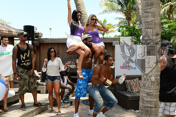 MIAMI BEACH, FL - JUNE 21: Braylon Edwards and Mark Boson attend  DJ Irie Weekend-IWX - BBQ Beach Bash Pool Party at National Hotel on Saturday June 21, 2014 in Miami Beach, Florida. (Photo by Johnny Louis/jlnphotography.com)
