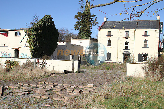 Graffiti and rubbish dumped at the derelict Old Mill Hotel in Julianstown, Co.Meath...(Photo credit should read Jenny Matthews/www.newsfile.ie)....This Picture has been sent you under the conditions enclosed by:.Newsfile Ltd..The Studio,.Millmount Abbey,.Drogheda,.Co Meath..Ireland..Tel: +353(0)41-9871240.Fax: +353(0)41-9871260.GSM: +353(0)86-2500958.email: pictures@newsfile.ie.www.newsfile.ie.