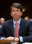 """Mark W. Begor, Chief Executive Officer, Equifax, Inc., waits to begin testimony before the United States Senate Committee on Homeland Security and Governmental Affairs Permanent Subcommittee on Investigations during a hearing on """"Examining Private Sector Data Breaches"""" on Capitol Hill in Washington, DC on Thursday, March 7, 2019.<br /> Credit: Ron Sachs / CNP"""