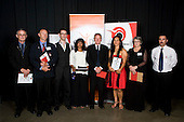 Volunteer of the Year finalists Robert Burton, Bhavna Leatham, Dave Beattie, Claire Lingman, Tony Wisnewski, Mark Banicevich & Cherie Collison with Dave Knowles from Sparc. Counties Manukau Sport 17th annual Sporting Excellence Awards held at the Telstra Clear Pacific Events Centre, Manukau City, on November 27th 2008.