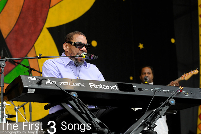 Henry Butler performs during the New Orleans Jazz & Heritage Festival in New Orleans, LA on May 3, 2012.