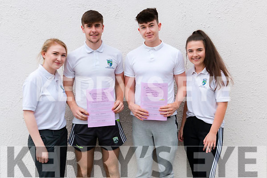 Jacqueline Twomey, Donal O'Sullivan, Cian Foley, Zuzanna Herliczka, Leaving Cert students in Pobailscoil Inbhear Scéine pictured after completing English Paper 1 on Wednesday morning last.