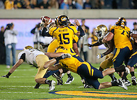 October 6th, 2012: California's Zach Maynard throws the ball to Allen Keenan (not pictured) in which he scored against UCLA at Memorial Stadium, Berkeley, Ca    California defeated UCLA 43 - 17