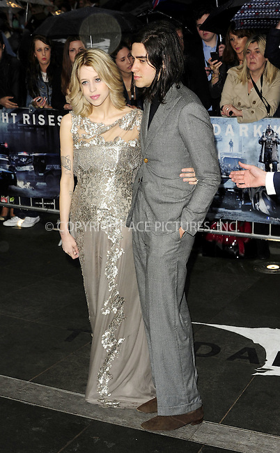WWW.ACEPIXS.COM . . . . .  ..... . . . . US SALES ONLY . . . . .....July 18 2012, London....Peaches Geldof and Thomas Cohen at the European premiere of 'The Dark Knight Rises' at the Odeon West End on July 18 2012 in London ....Please byline: FAMOUS-ACE PICTURES... . . . .  ....Ace Pictures, Inc:  ..Tel: (212) 243-8787..e-mail: info@acepixs.com..web: http://www.acepixs.com