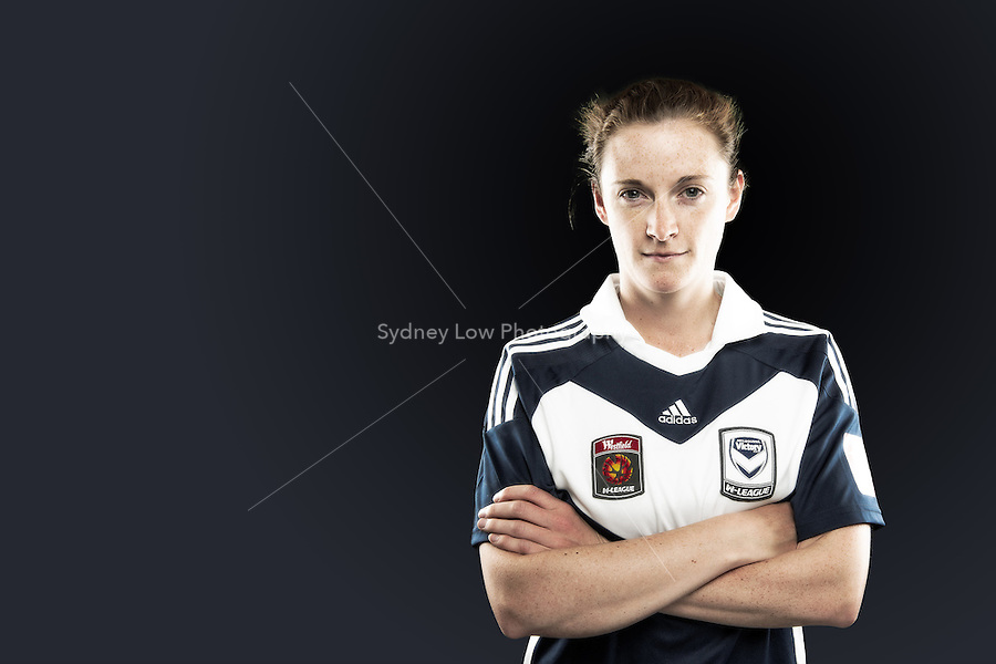 Jessica Humble is a no-nonsense central defender who can also play in a holding role in midfield. She first made the Melbourne Victory team in 2009 but had almost given up hope of ever making it back to this elite level again following a serious ankle injury. Injuries to other players, while unfortunate, offered her a second chance opportunity to rejoin the squad this season and she is determined to make the most of it. //  The 26 year old was an integral member of the title-winning Box Hill United team in the Victorian WPL, also assuming co-captain duties in a wildly successful season that saw them sweep all titles. //  (Copyright Photo Sydney Low. Text Zee Ko)