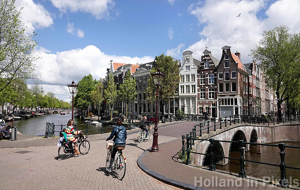 Nederland Amsterdam -  mei 2019 . Kruising Leidsegracht en Keizersgracht. Foto Berlinda van Dam / Hollande Hoogte