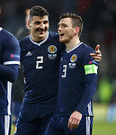 20.11.2018 Scotland v :Israel : Callum Paterson and Andy Robertson