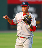 15 Aug 2007:  Welinson Baez of the Lakewood BlueClaws, Class A affiliate of the Philadelphia Phillies, in a game against the Greenville Drive at West End Field in Greenville, S.C. Photo by:  Tom Priddy/Four Seam Images