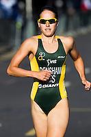 30 JUN 2011 - LONDON, GBR - Erin Densham - Women's Super Sprint elimination round - GE Canary Wharf Triathlon .(PHOTO (C) NIGEL FARROW)