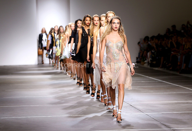 WWW.ACEPIXS.COM<br /> <br /> US SALES ONLY<br /> <br /> September 14, 2014, London, England<br /> <br /> Cara Delevingne walking the runway at the TopShop Unique show during London Fashion Week Spring Summer 2015 on September 14, 2014 in London, England. <br /> <br /> By Line: Famous/ACE Pictures<br /> <br /> ACE Pictures, Inc<br /> Tel: 646 769 0430<br /> Email: info@acepixs.com