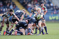 20130317 Copyright onEdition 2013©.Free for editorial use image, please credit: onEdition..Nathan Fowles of Sale Sharks passes during the LV= Cup Final between Harlequins and Sale Sharks at Sixways Stadium on Sunday 17th March 2013 (Photo by Rob Munro)..For press contacts contact: Sam Feasey at brandRapport on M: +44 (0)7717 757114 E: SFeasey@brand-rapport.com..If you require a higher resolution image or you have any other onEdition photographic enquiries, please contact onEdition on 0845 900 2 900 or email info@onEdition.com.This image is copyright onEdition 2013©..This image has been supplied by onEdition and must be credited onEdition. The author is asserting his full Moral rights in relation to the publication of this image. Rights for onward transmission of any image or file is not granted or implied. Changing or deleting Copyright information is illegal as specified in the Copyright, Design and Patents Act 1988. If you are in any way unsure of your right to publish this image please contact onEdition on 0845 900 2 900 or email info@onEdition.com