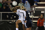 04 December 2009: Notre Dame's Amanda Clark (7) and Tobin Heath (98). The University of North Carolina Tar Heels defeated the Notre Dame University Fighting Irish 1-0 at the Aggie Soccer Complex in College Station, Texas in an NCAA Division I Women's College Cup Semifinal game.