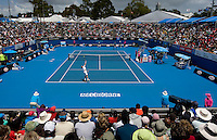 Fernando Gonzalez (CHI) against Olivier Rochus (BEL) in the First Round of the Men's SIngles. Gonzalez beat Rochus 6-3 6-4 3-6 6-1 ..International Tennis - Australian Open Tennis - Mon 18 Jan 2010 - Melbourne Park - Melbourne - Australia ..© Frey - AMN Images, 1st Floor, Barry House, 20-22 Worple Road, London, SW19 4DH.Tel - +44 20 8947 0100.mfrey@advantagemedianet.com