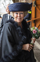 04 March 2016 - Haarlem, Netherlands -  Princess Beatrix for the meeting to mark the completion of the interior of the restored St Bavo Cathedral in Haarlem. Photo Credit: PPE/face to face/AdMedia