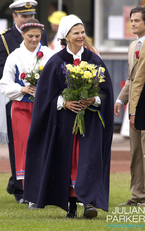 Queen Silvia celebrates Crown Princess Victoria of Sweden's 27th birthday with a concert in Borgholm...