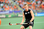The Hague, Netherlands, June 10: Hugo Inglis #29 of New Zealand looks on during the field hockey group match (Men - Group B) between New Zealand and The Netherlands on June 10, 2014 during the World Cup 2014 at Kyocera Stadium in The Hague, Netherlands. Final score 1-1 (0-1) (Photo by Dirk Markgraf / www.265-images.com) *** Local caption ***