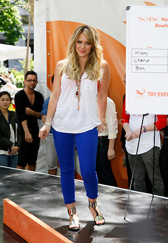 """25 May 2011 - New York , NY - Actress Hilary Duff pictured at the SoBe """"Try Everything"""" Experience event at Madison Square Park. Photo Credit: © Martin Roe / MediaPunch Inc."""