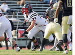 Palos Verdes, CA 11/03/17 - Tyler Cleveland (Palos Verdes #75) in action during the Palos Verdes vs Palos Verdes Peninsula CIF Varsity football game at Peninsula High School for the battle of the hill.