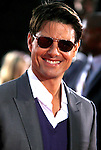 "Actor Tom Cruise arrives at the Los Angeles Premiere Of ""Tropic Thunder"" at the Mann's Village Theater on August 11, 2008 in Los Angeles, California."