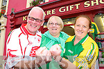 Pat and Tricia Christie originally from Tyrone now living in Kenmare and Sinead Fitzgibbon Kenmare who will be cheering on their teams on Sunday    Copyright Kerry's Eye 2008