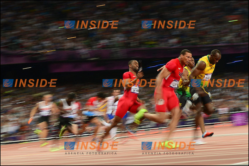 Usain Bolt (JAM) during Men's 4 x 100m final at the 2012 Summer Olympics at Olympic Stadium, London, United Kingdom on 2012/08/11.PhotoCredit: Insidefoto /JB Autissier / FEP / Panoramic