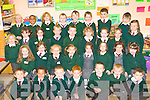 All smiles on their first day at school at Firies NS on Tuesday was front row l-r: Cian Mundy, Sean Joesph (this is his surname), Darren Moynihan, Josh Dower, Denis Cremin, Stephen Palmer, Ben Fleming. Middle row: Kelly Malee, Amy Brosnan, Katie O'Leary, Laoise O'Connor, Christina O'Mahony, Katlyn O'Connor-Kelly, Orla Kelleher, Ellen Doody. Third row: Justyna Przyborska, Aine O'Shea, Melissa Darlington, James O'Shea-Horgan, Gary Coffey, Ciara Duggan, Libby Daly, Chantelle O'Sullivan-O'Rourke and Ella Hillard