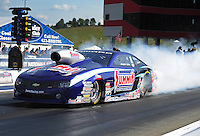 Jun. 15, 2012; Bristol, TN, USA: NHRA pro stock driver Jason Line during qualifying for the Thunder Valley Nationals at Bristol Dragway. Mandatory Credit: Mark J. Rebilas-