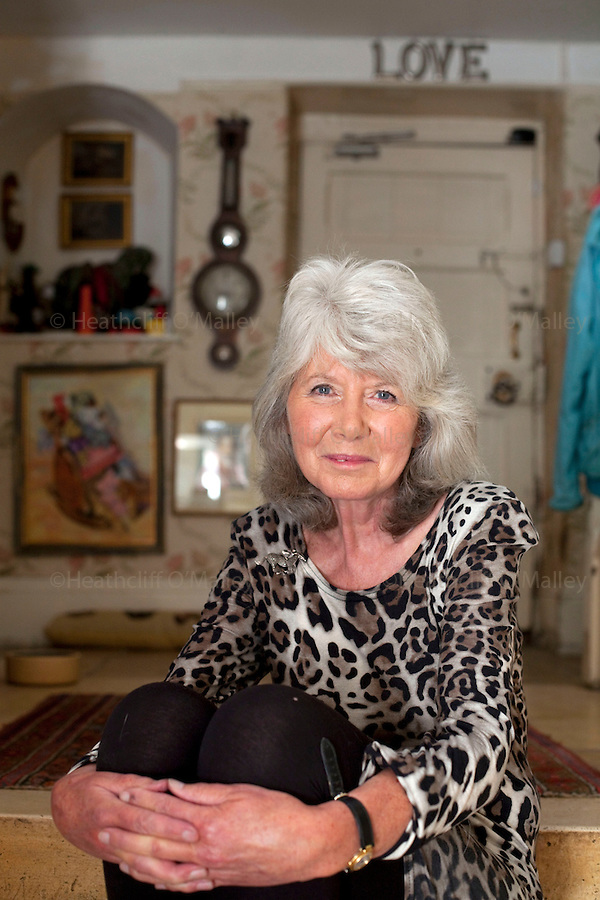 May0025421 . Daily Telegraph..Weekend..Best selling author Jilly Cooper photographed at her home in Gloucestershire...Bisley 1 September 2010
