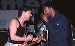Eddie Van Halen & Michael Winslow at NAMM show Los Angeles 1987