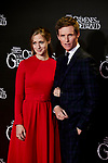 Eddie Redmayne and Hannah Bagshawe attends to Fantastic Beasts: The Crimes of Grindelwald film premiere during the Madrid Premiere Week at Kinepolis in Pozuelo de Alarcon, Spain. November 15, 2018. (ALTERPHOTOS/A. Perez Meca)