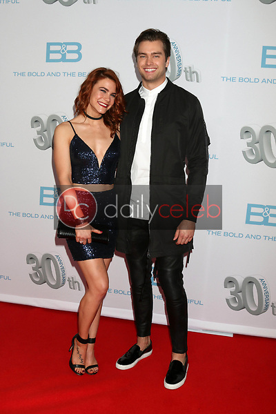 """Courtney Hope, Pierson Fode<br /> at the """"The Bold and The Beautiful"""" 30th Anniversary Party, Clifton's Downtown, Los Angeles, CA 03-18-17<br /> David Edwards/DailyCeleb.com 818-249-4998"""