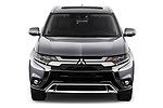 Car photography straight front view of a 2019 Mitsubishi Outlander GT 5 Door SUV Front View