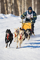 Musher Robert Gallant, 2007 Limited North American Championship Sled dog race in Fairbanks, Alaska.