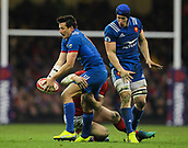 17th March 2018, Principality Stadium, Cardiff, Wales; NatWest Six Nations rugby, Wales versus France; Francois Trinh-Duc of France is tackled by Dan Biggar of Wales