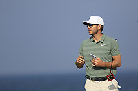 James Heath (ENG) during the first round of the NBO Open played at Al Mouj Golf, Muscat, Sultanate of Oman. <br /> 15/02/2018.<br /> Picture: Golffile | Phil Inglis<br /> <br /> <br /> All photo usage must carry mandatory copyright credit (&copy; Golffile | Phil Inglis)