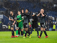 Players applaud their fans at the final whistle after their 3-1 victory over Brighton &amp; Hove Albion<br /> <br /> Photographer David Horton/CameraSport<br /> <br /> The Premier League - Brighton and Hove Albion v Burnley - Saturday 9th February 2019 - The Amex Stadium - Brighton<br /> <br /> World Copyright &copy; 2019 CameraSport. All rights reserved. 43 Linden Ave. Countesthorpe. Leicester. England. LE8 5PG - Tel: +44 (0) 116 277 4147 - admin@camerasport.com - www.camerasport.com