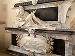 17th century memorial monument to Gulielmus Jones, Ramsbury church, Wiltshire, England, UK