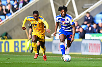 Tyler Blackett of Reading gets away from Gavin Massey of Wigan Athletic during Reading vs Wigan Athletic, Sky Bet EFL Championship Football at the Madejski Stadium on 9th March 2019
