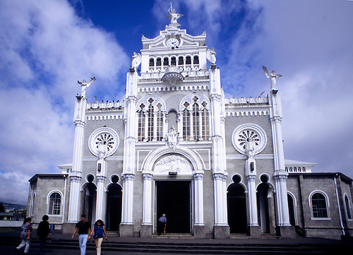 Cartago, Costa Rica. The Byzantine church of Our Lady of the Angels (Nuestra Senora de los Angeles; for patron saint La Negrita.